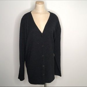 Eileen Fisher wool oversized cardigan button knit